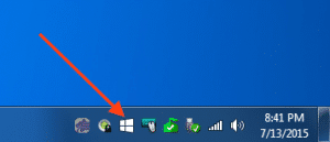This is the Windows 10 Notification Icon