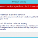 "You will be prompted to confirm the installation of an unsigned driver. Click ""Install this driver software anyway"""