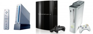 Wii, Playstation 3, Xbox 360