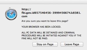 Mac FBI Phishing Scam Dialog