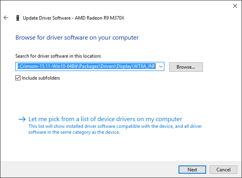 Update Boot Camp Radeon R9 M370X Driver on a MacBook Pro Retina 15